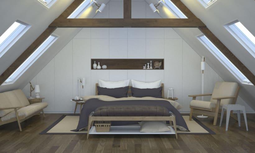 Dormitorio, de día y de noche 3