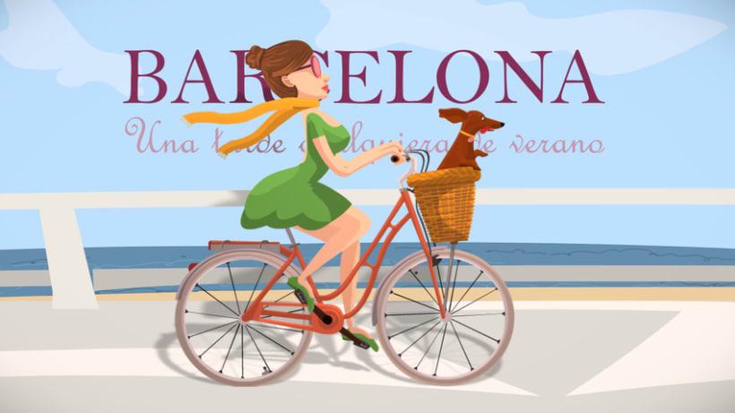 Animación. Barcelona.Una tarde cualquiera de verano -1