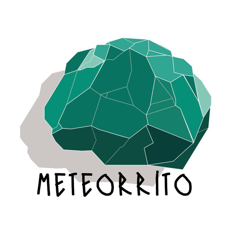 Diseño logotipo para Meteorrito djs -1