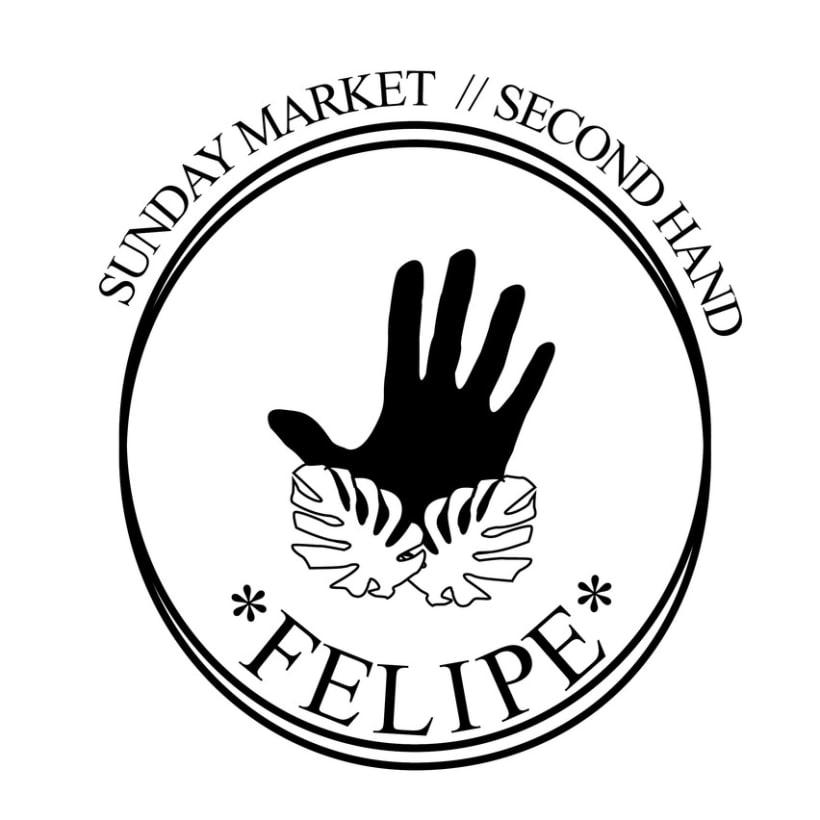 Logotipo y flyer para Felipe Sunday Market- Mercadillo de segunda mano. -1