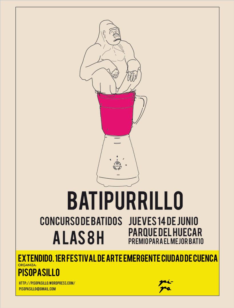Diseño carteles y triptico para Extendido I Festival de arte emergente ciudad de Cuenca 1