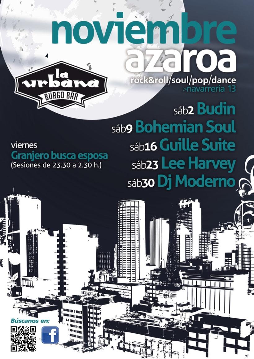 Carteles para La Urbana Burguer Bar en Pamplona 5