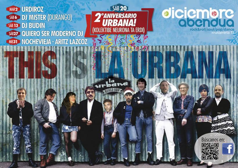 Carteles para La Urbana Burguer Bar en Pamplona 0