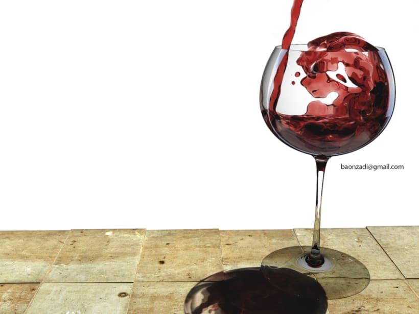 Copa de vino con RealFlow. Vray&Maxwell 0