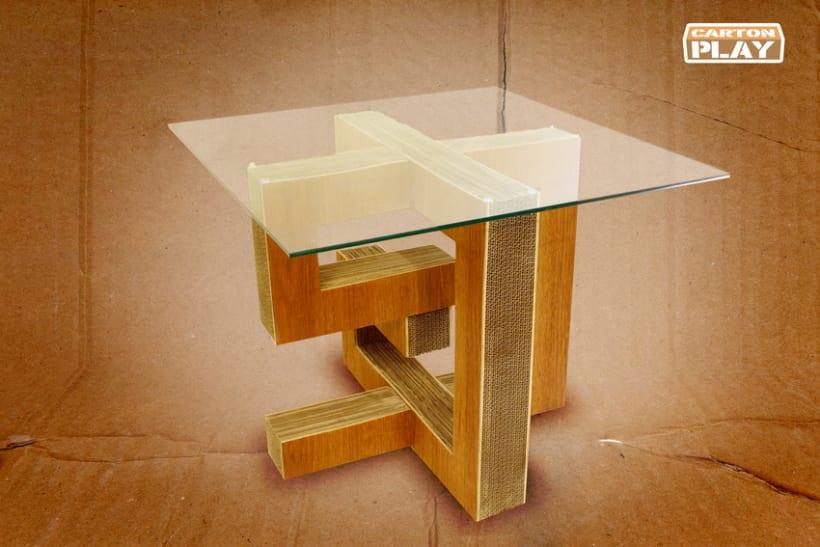 Mesa Lalas Fabricada de Cartón 0