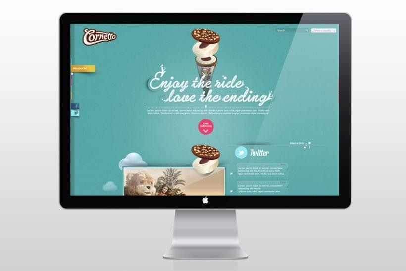 Rediseño web internacional de Cornetto 0