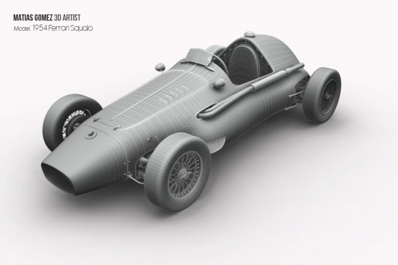 Ferrari Squalo 3d Model 2