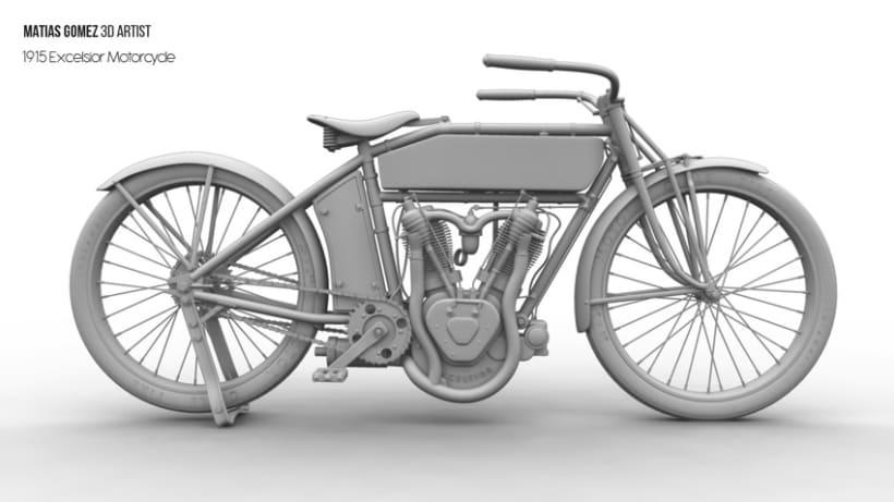 Excelsior Motorcycle 3D Model 4