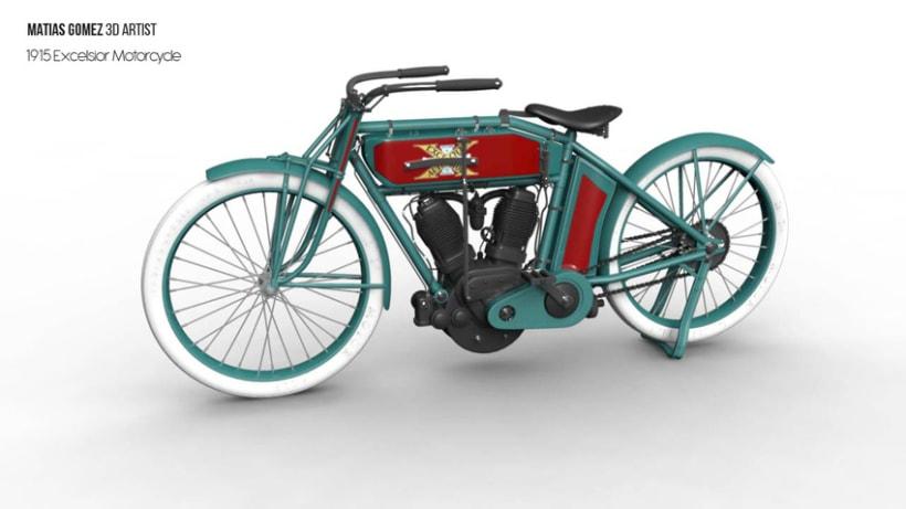 Excelsior Motorcycle 3D Model 2