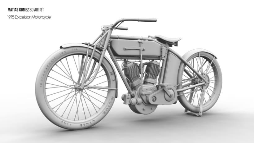 Excelsior Motorcycle 3D Model 5