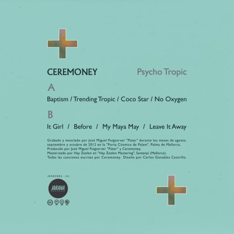 CEREMONEY - Psycho Tropic (Jarana Records 2013) LP 5