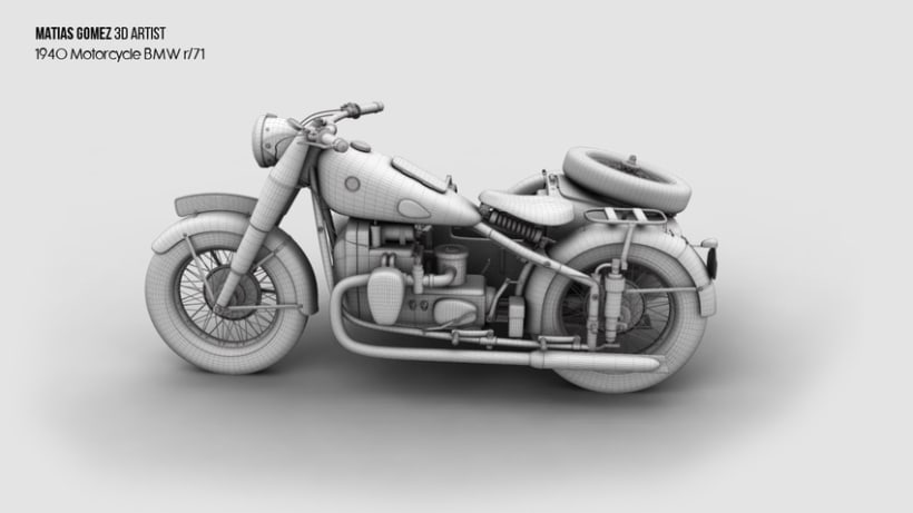 BMW R/71 3D Model 0