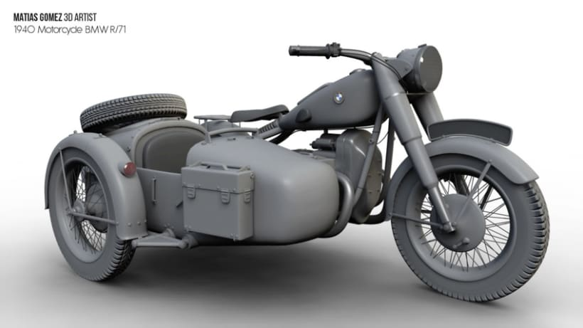 BMW R/71 3D Model 4