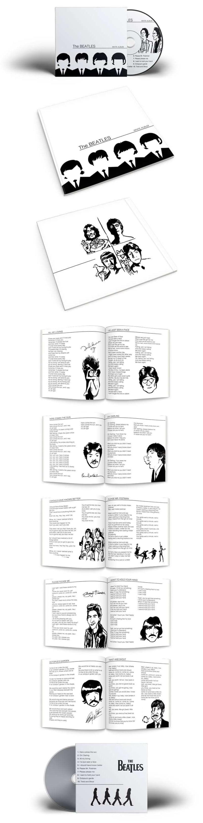 Maquetación cd Beatles 0