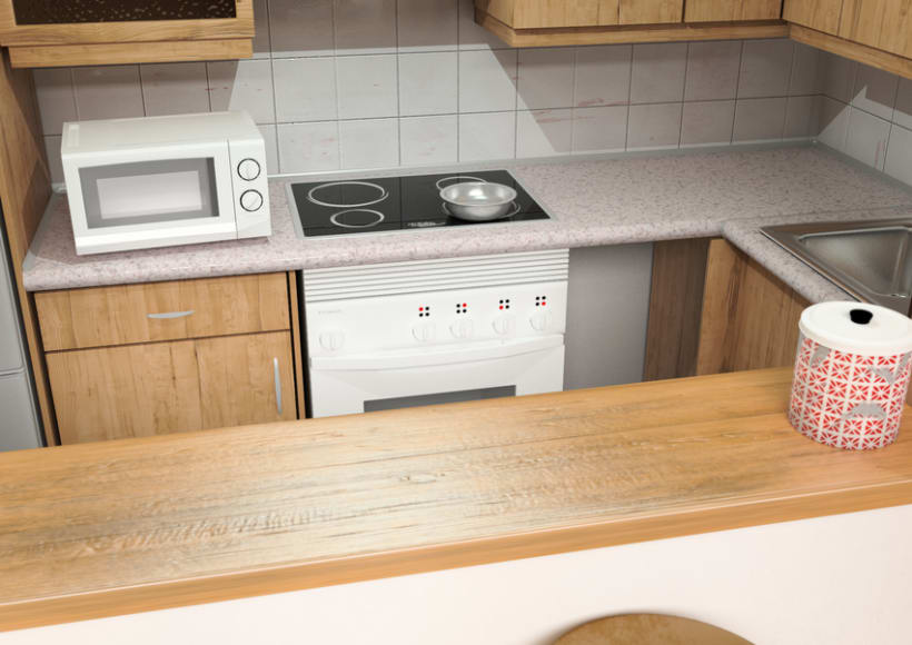 Cocina interior con vray -1
