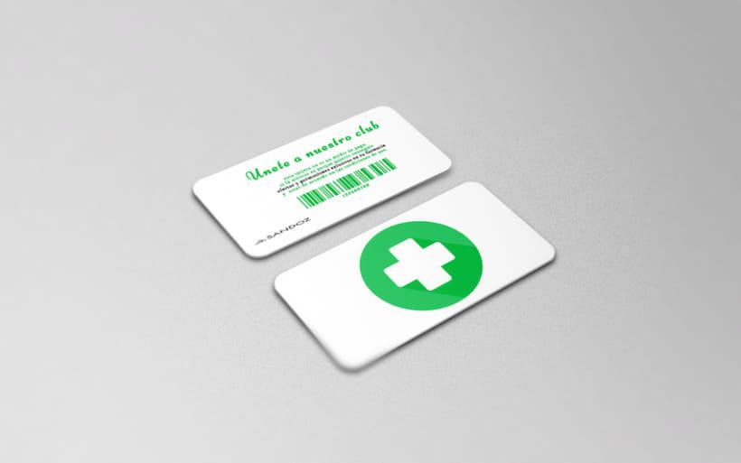 Diseño de tarjeta de fidelización para farmacias 2