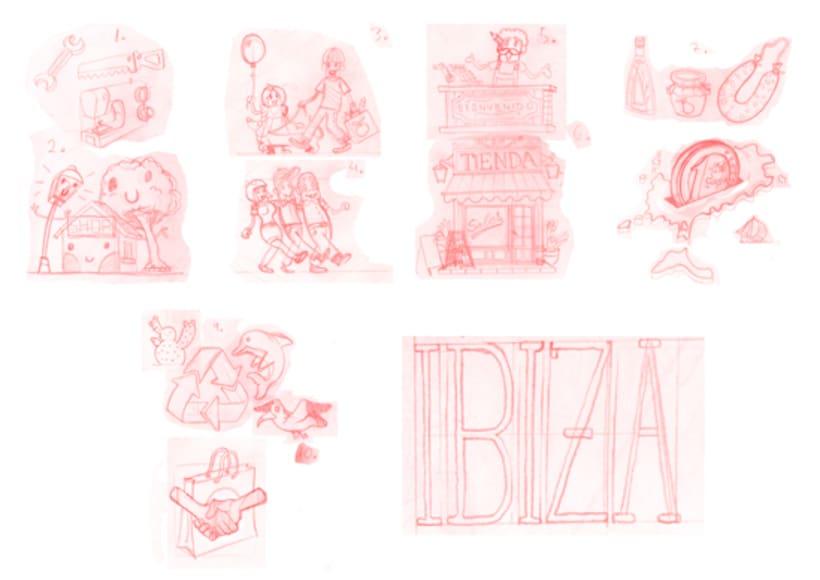 Ilustraciones Campaña #CompraEnPetit > Ibiza 2
