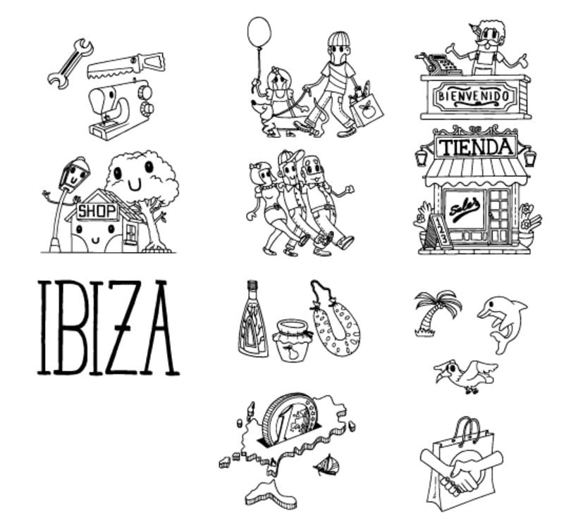 Ilustraciones Campaña #CompraEnPetit > Ibiza 3