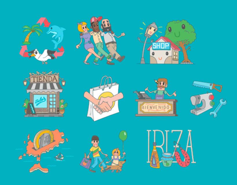 Ilustraciones Campaña #CompraEnPetit > Ibiza 4