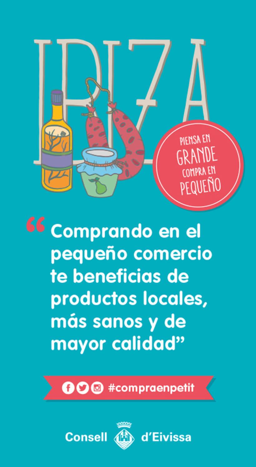 Ilustraciones Campaña #CompraEnPetit > Ibiza 7