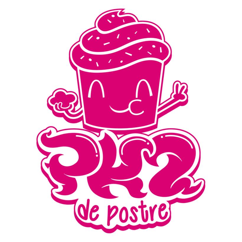 """Logotipo """"Pk2 de postre"""" 0"""