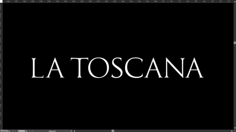 La Toscana Toledo, diseño tipografía. 1