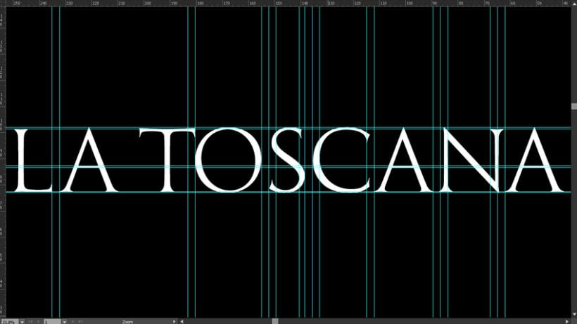 La Toscana Toledo, diseño tipografía. 10