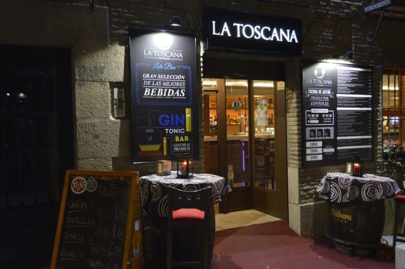 La Toscana Toledo, diseño tipografía. 12
