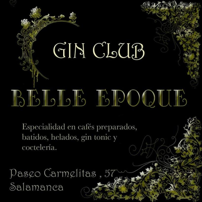 Creación de identidad corporativa y elementos de branding. Belle Epoque Gin Club 0