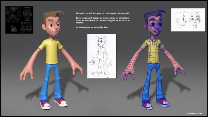 Modelado de Personaje  para un corto de animación. -1