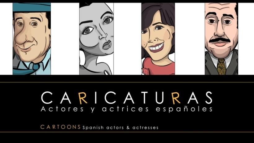 Caricaturas. Actores y actrices españoles. 0
