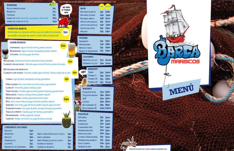 Menú La Barca Restaurantes 0