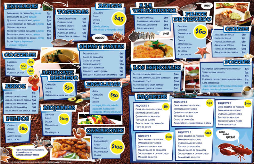Menú La Barca Restaurantes 2