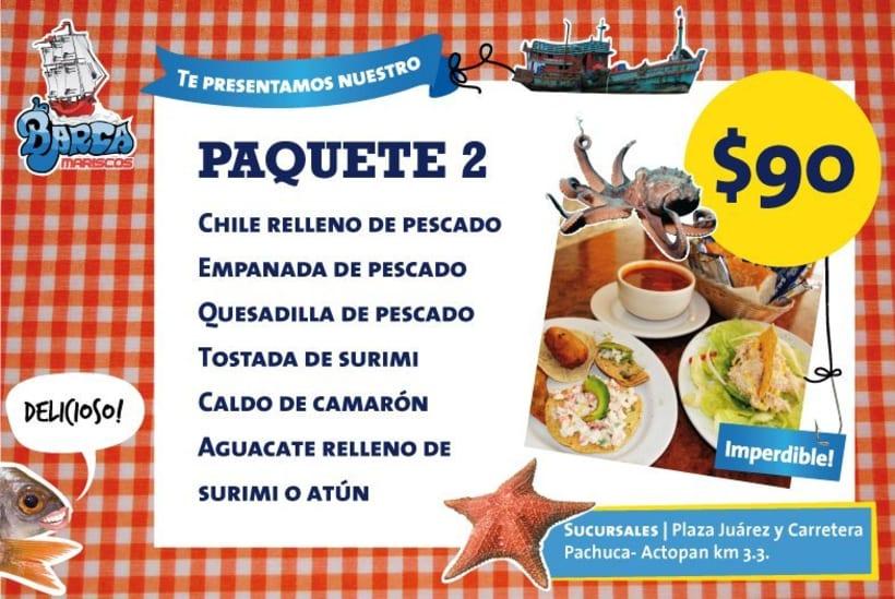 Menú La Barca Restaurantes 5