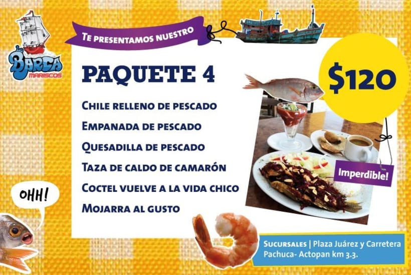 Menú La Barca Restaurantes 6