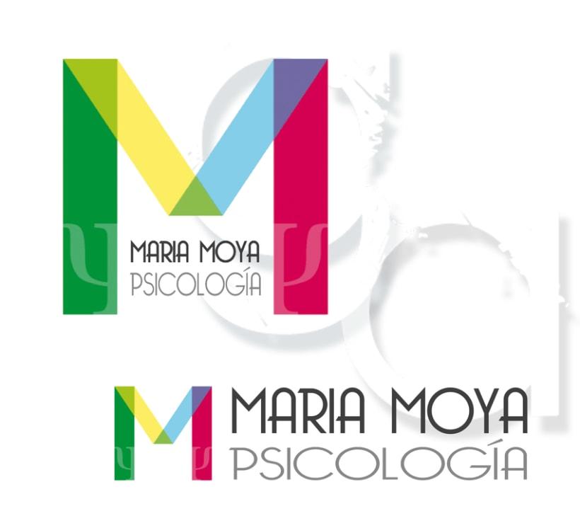 """Diseño Logotipo """"María Moya Psicología"""" 0"""