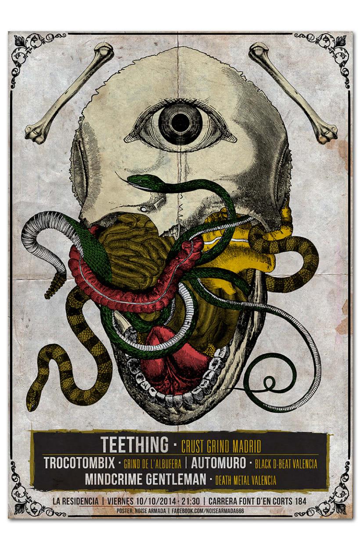 TEETHING + TROCOTOMBIX + AUTOMURO + MINDCRIME GENTLEMAN | poster -1