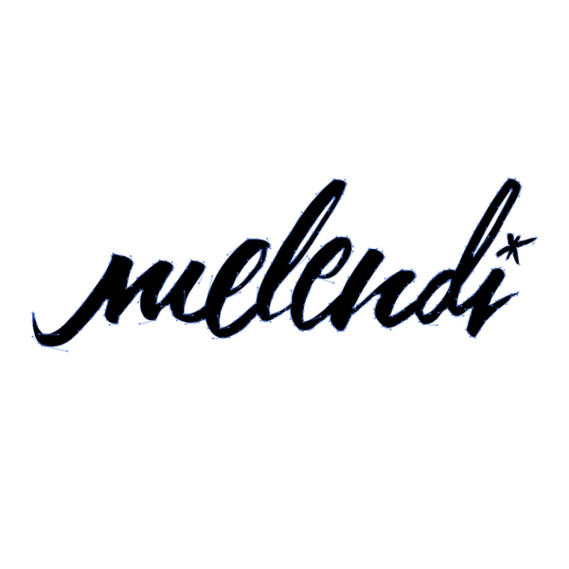 Desafío: caligrafía para logotipo Melendi.  0