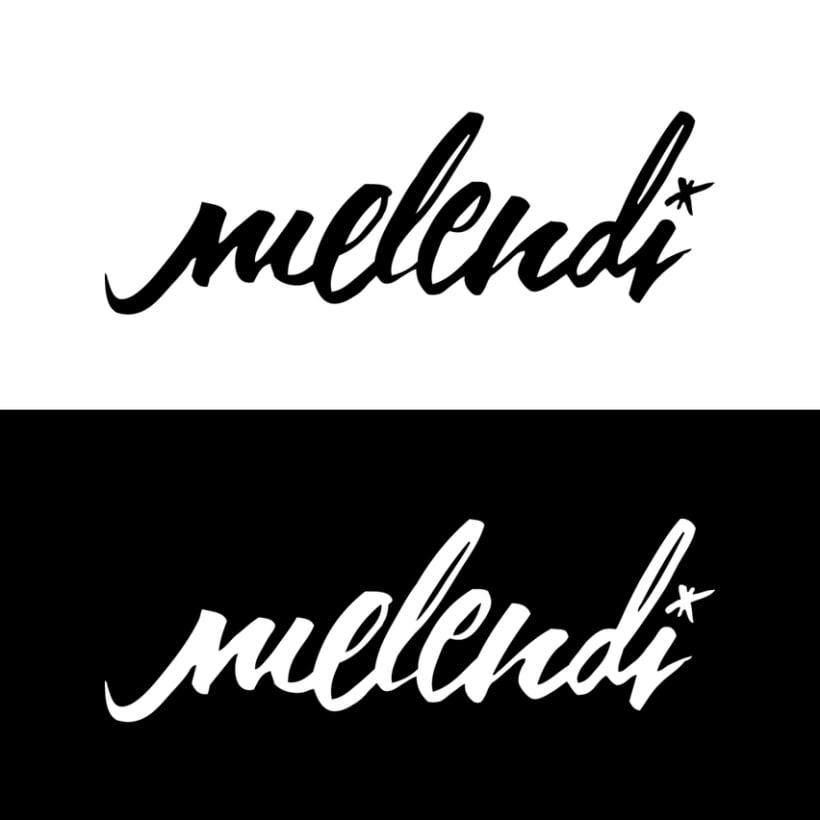 Desafío: caligrafía para logotipo Melendi.  1