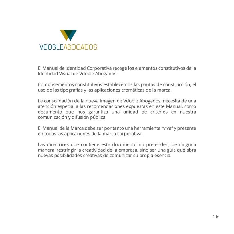 Manual de identidad corporativa :: Vdoble Abogados 0