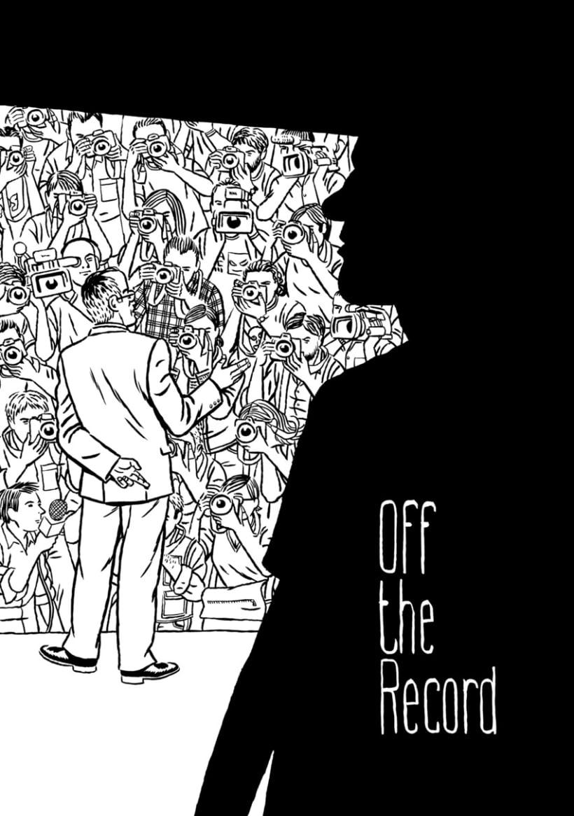 Libro Off The Record,entrevistas a periodistas con ilustraciones de Paco Roca, Miguel Gallardo etc 1