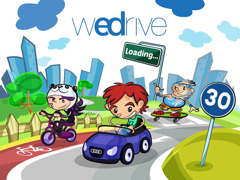 "Project Presentation: Audi App for children ""WeDrive"" 0"