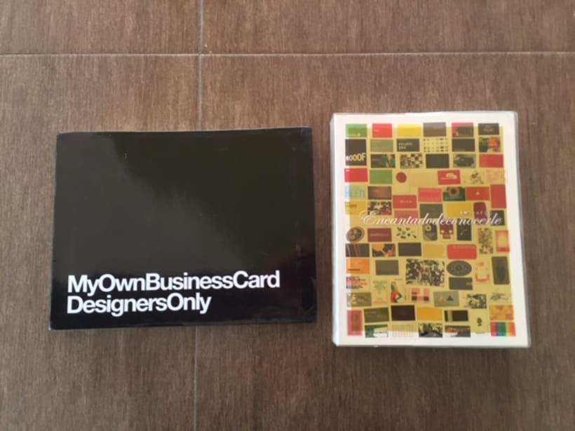 Vendo 2 libros sobre tarjetas de visita 1