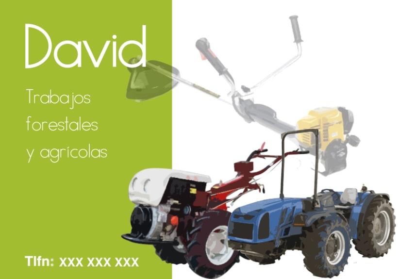"""Tarjetas Visita """"Trabajos forestales y agrícolas"""" 2"""