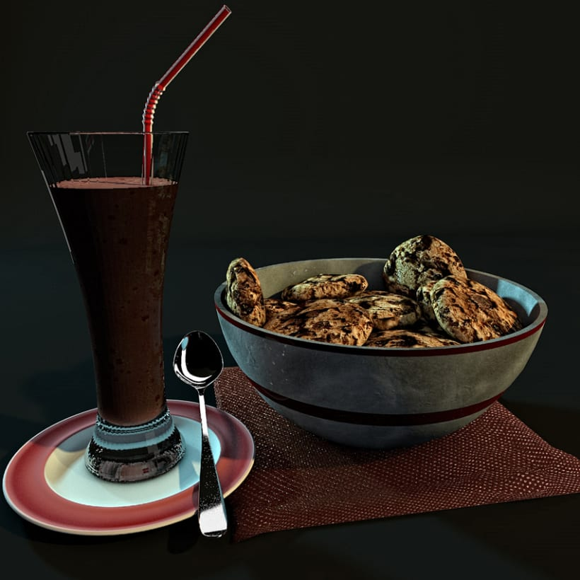 Comida  y Bebida 3D 1