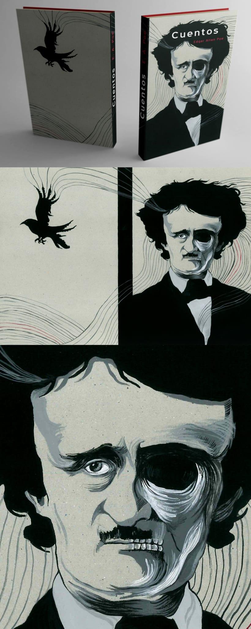 """Cubierta para """"Cuentos"""" de E.A. Poe 1"""