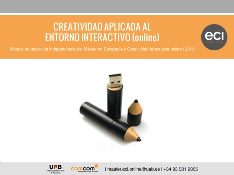 ECI Online - Curso de Creatividad Aplicada al Entorno Interactivo 0
