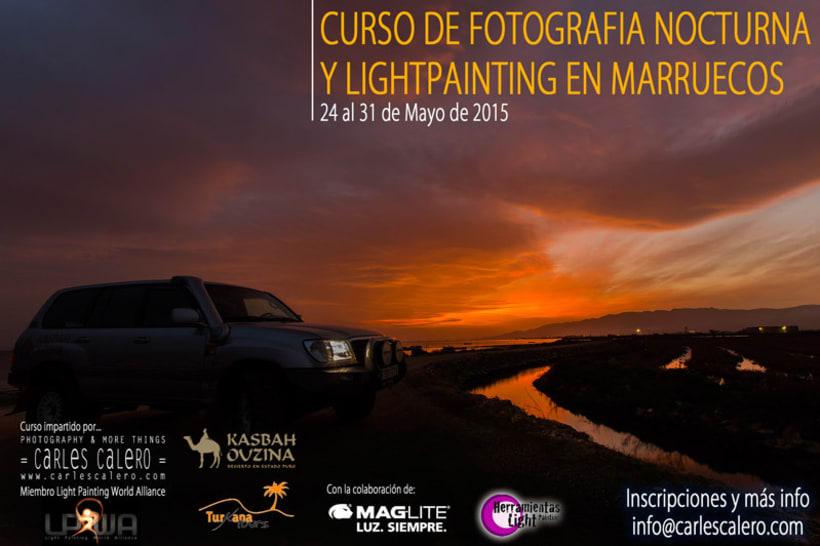 Curso de Foto Nocturna y Lightpainting en Marruecos 0