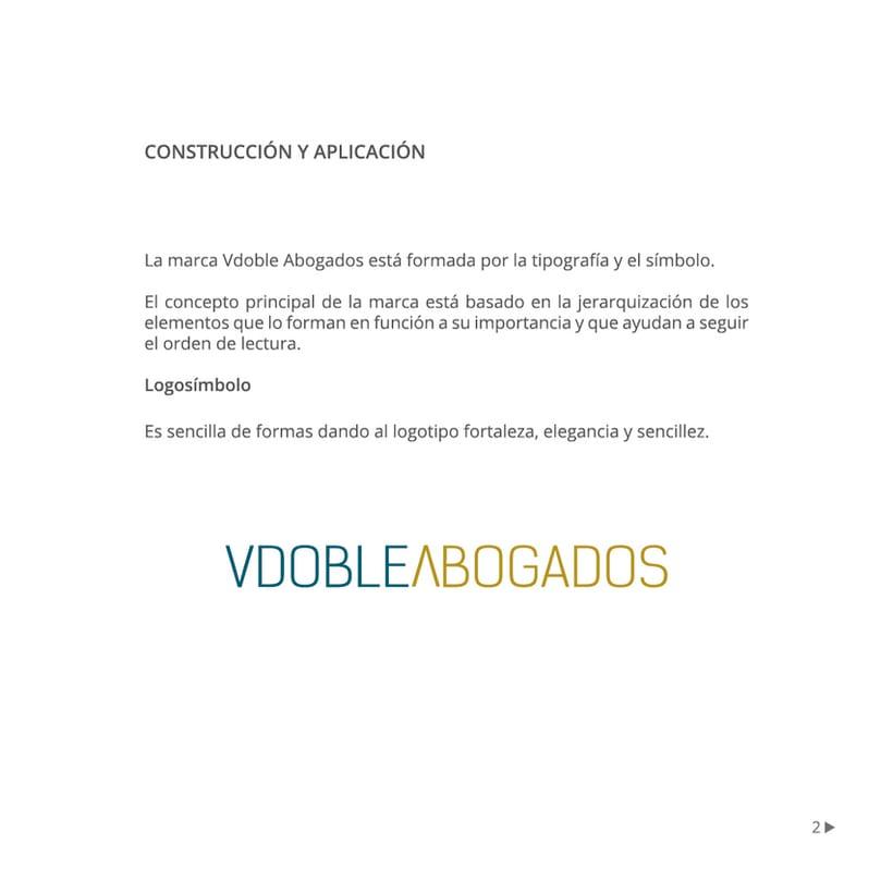 Manual de identidad corporativa :: Vdoble Abogados 1