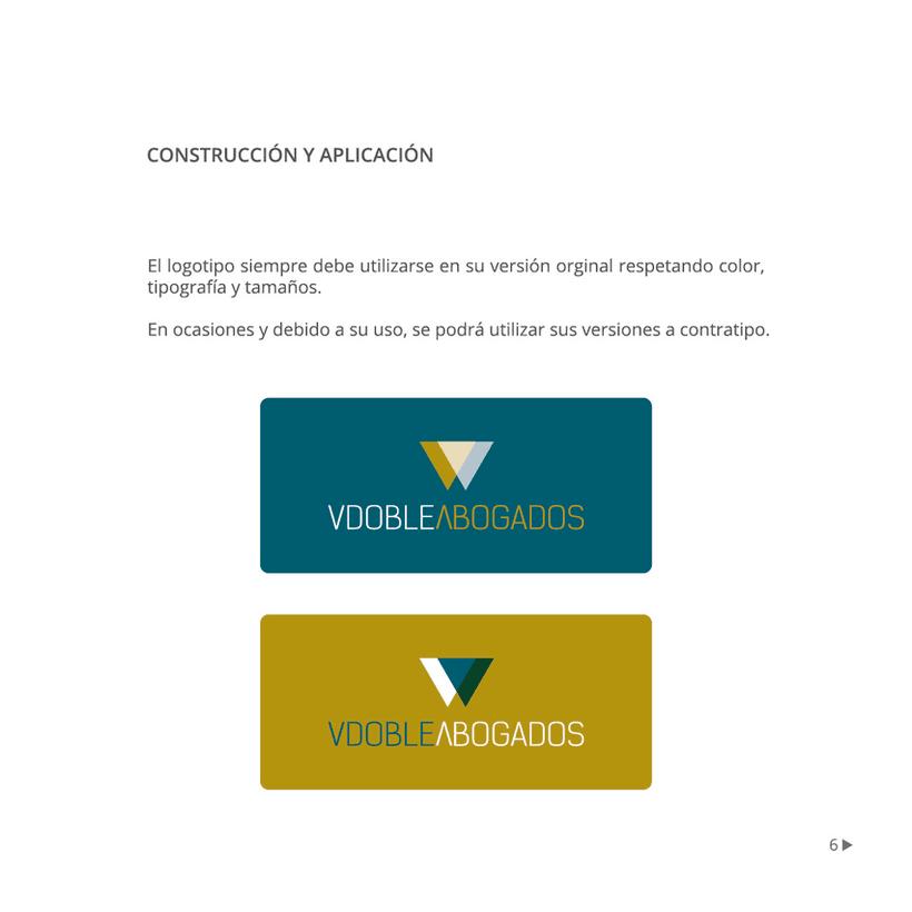 Manual de identidad corporativa :: Vdoble Abogados 5